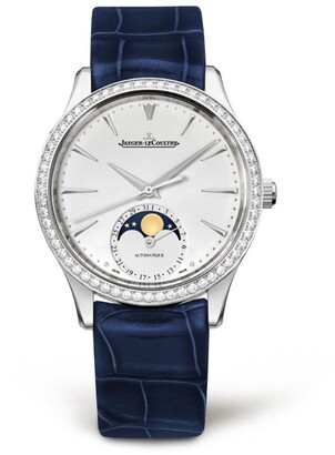 Jaeger-LeCoultre Master Ultra Thin Moonphase Diamond Bezel Watch