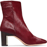 Rosetta Getty Calf Hair Ankle Boots - Claret