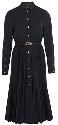 Versace Buttoned midi shirt dress