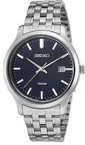 Seiko SUR143P1 Men's Neo Classic Stainless Steel Navy Blue Dial
