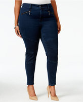 Melissa McCarthy Trendy Plus Size Inkwell Wash Pencil Jeans