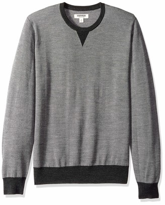 Goodthreads Amazon Brand Men's Lightweight Merino Wool Crewneck Sweater