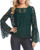 Karen Kane Bell Sleeve Lace Top