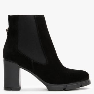 Daniel Espor Black Suede Chelsea Boots