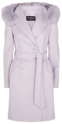 Harrods Fox Fur Hooded Coat