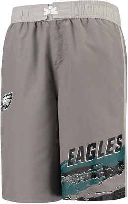 Outerstuff Youth Charcoal Philadelphia Eagles Heat Wave Swim Trunks