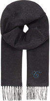 Canali Logo Cashmere And Silk-blend Scarf