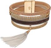 JLO by Jennifer Lopez Tassel Faux Leather Multi Strand Bracelet