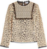 RED Valentino Macramé Lace Blouse