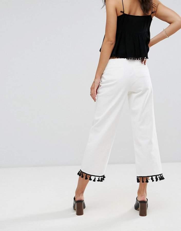 MANGO Slim Fit Cropped Pants