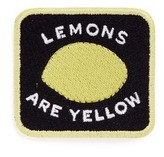 Marc Jacobs 'Lemons are Yellow' embroidered patch
