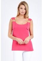 Select Fashion Fashion Women's Metal Ring Vest Tops - size 6
