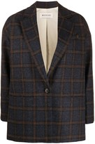 Masscob Milton checked print blazer