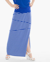 Chico's Tinley Blue and White Striped Maxi Skirt