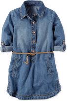 Carter's Belted Chambray Cotton Shirtdress, Little Girls (2-6X) & Big Girls (7-16)