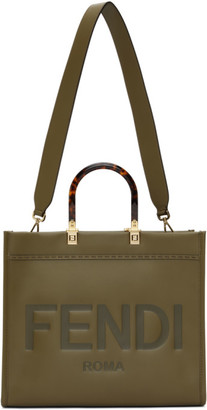 Fendi Khaki Medium Sunshine Tote