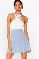 Thumbnail for your product : Nasty Gal Womens Pleated Loose Mini Skirt - Blue - 12