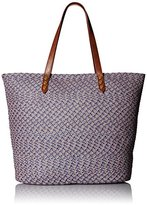 San Diego Hat Company Women's Tote Bag with Pop Color Lining and Zipper Pocket