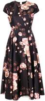 Rochas rose print cap sleeve dress