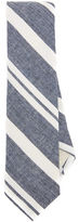 The Hill-Side Linen Blend Crepe Stripe Tie