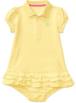 Personalization Baby Girl Polo Dress & Bloomer