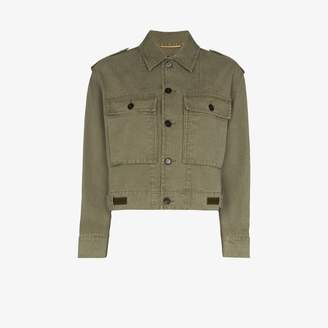 Saint Laurent cropped military jacket