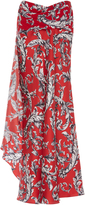 J.W.Anderson Filigree Print Asymmetric Maxi Skirt