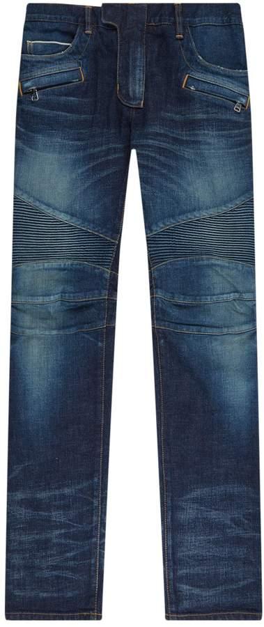 1cf87927 Balmain Womens Biker Jeans - ShopStyle