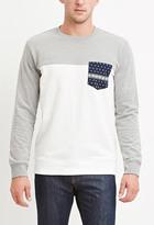 Forever 21 Bandana-Pocket Sweatshirt