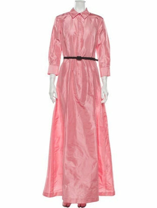 Oscar de la Renta 2020 Long Dress Pink