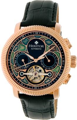 Heritor Automatic Aura Watch - Rosetone/Black