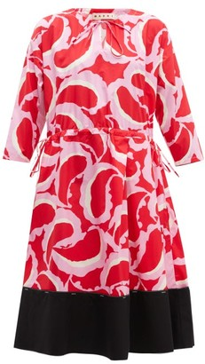 Marni Paisley-print Dress - Womens - Red Multi