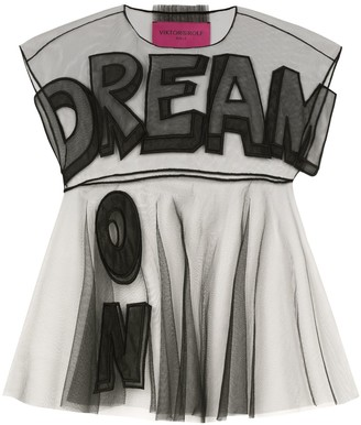 Viktor & Rolf sheer Dream On applique organza blouse