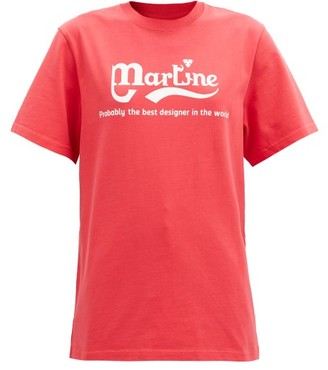 Martine Rose Probably The Best Printed Cotton-jersey T-shirt - Red