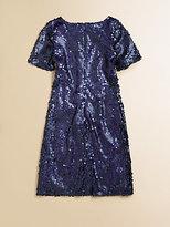 Un Deux Trois Girl's Sequin Shift Dress