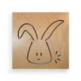 Pin It Spot On Square Animal Series Wall Art - George The Rabbit