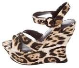 Alice + Olivia Canvas Wedge Sandals