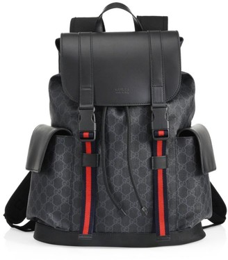 Gucci Leather Logo Backpack