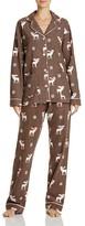 PJ Salvage Reindeer Flannel Pajama Set