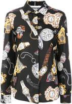 Moschino timepiece print shirt