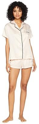 Bluebella Abigail Shirt and Shorts (Pale Pink/Black) Women's Pajama Sets