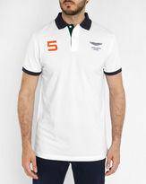 Hackett White Aston Martin Number Polo Shirt