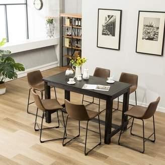 Trent Austin Design Bamey 7 Piece Counter Height Dining Set Trent Austin Design Color: Brown