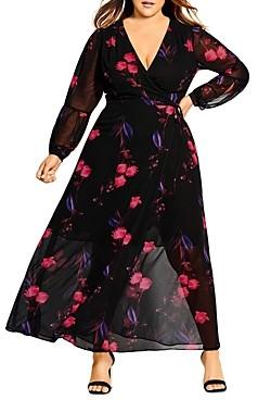 City Chic Plus Floral Print Maxi Dress
