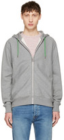 Paul Smith Grey No Zebra Zip Hoodie