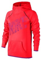 Nike Big Girls' (7-16) Therma-Fit Flash Pullover Hoodie-Bright Crimson-XS