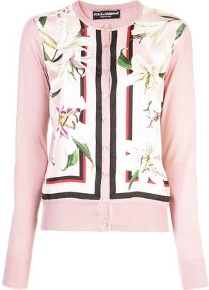 Dolce & Gabbana Floral-Panelled Cardigan