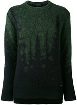 DSQUARED2 embroidered sweater - women - Polyamide/Mohair/Wool - XS