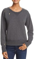 Scotch & Soda Embroidered Distressed Sweatshirt