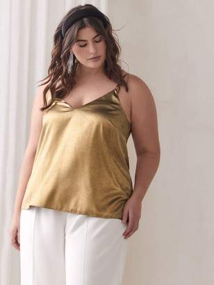 Gold Foil V-Neck Camisole - Addition Elle
